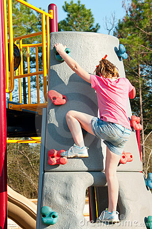 Free Girl On Climbing Wall Stock Photography - 18486472