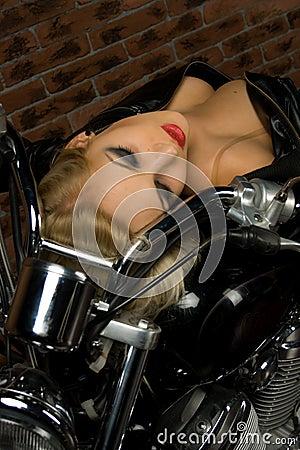 Free Girl On Motorbike Royalty Free Stock Images - 12448649