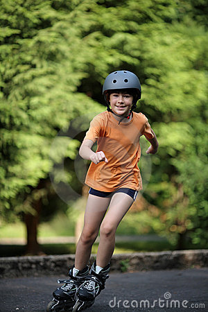 Free Girl On Rollerblades Royalty Free Stock Photo - 5788085
