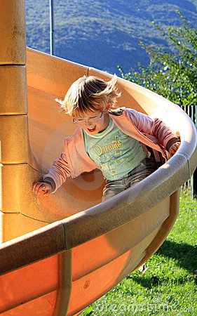 Free Girl On Slide Royalty Free Stock Photo - 8494155