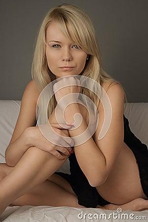 Free Girl On Sofa In Studio Stock Images - 12758854