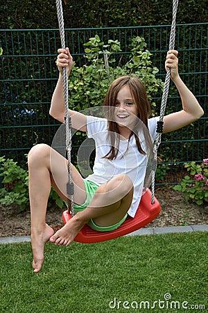 Free Girl On Swing Stock Photography - 57934092