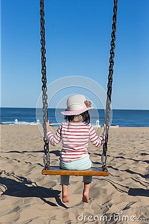 Free Girl On Swing Stock Photos - 61802153