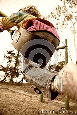 Free Girl On Swing, Motion Blur Stock Image - 17135801