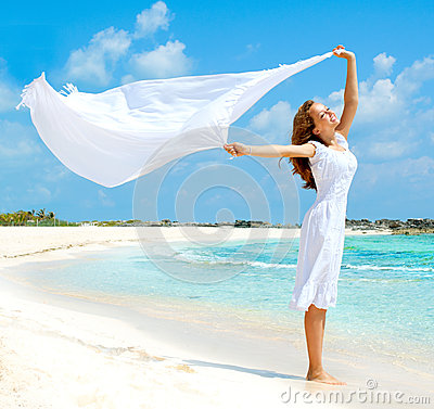 Free Girl On The Beach Stock Images - 28792504