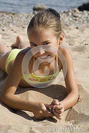 Free Girl On The Beach III Stock Photo - 3997990