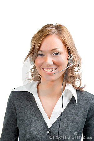 Girl Operator Stock Photos - Image: 12379403