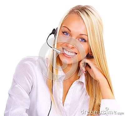 Girl the operator