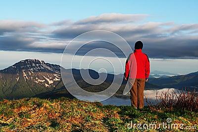Girl overview landscapes