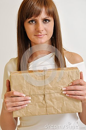 Girl with a package