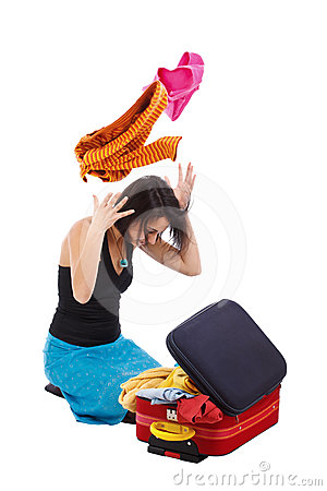 Girl packing