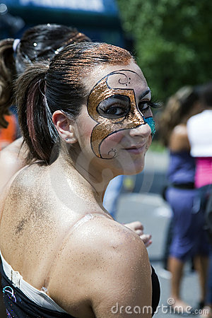 Girl with painted face Editorial Image