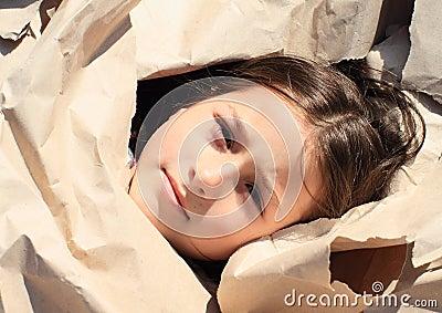 Girl in paper