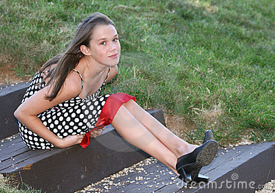 Girl in a Park, Outdoor Setting