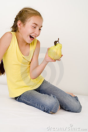 Girl with a pear III