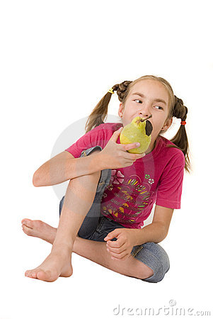 Girl with a pear V
