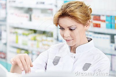 The girl at the pharmacy