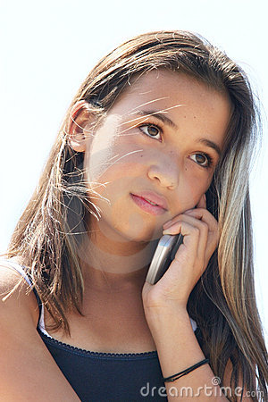 Girl on the phone