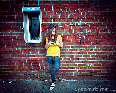 Girl with Phones