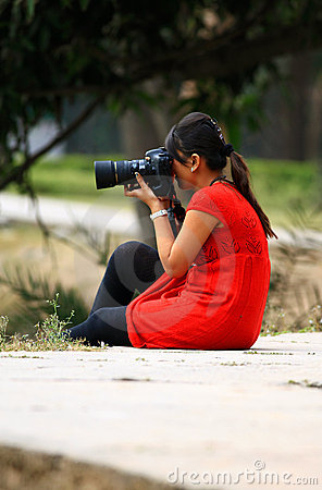 Free Girl Photographer Stock Images - 22241844