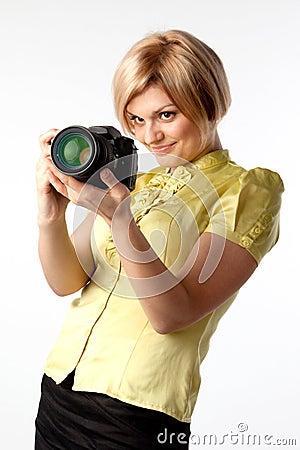 Girl-photographer