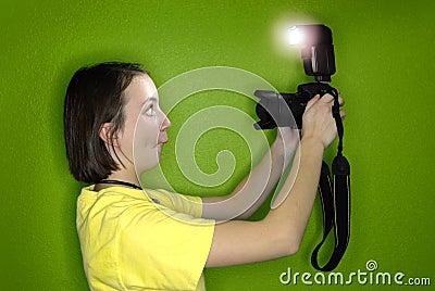 Girl Photographer Self Portrait