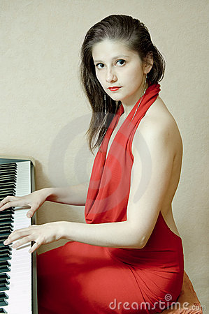 The girl at the piano