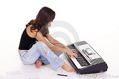 girl at piano