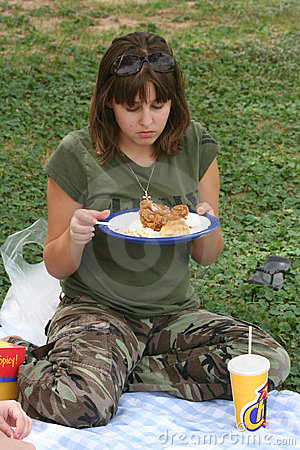 Girl on Picnic
