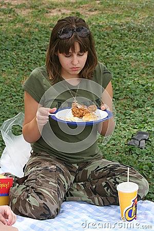Girl on Picnic