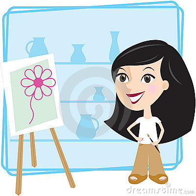 Girl with picture
