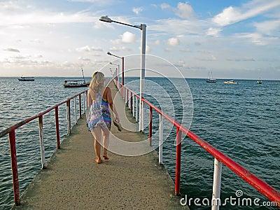 Girl in pier