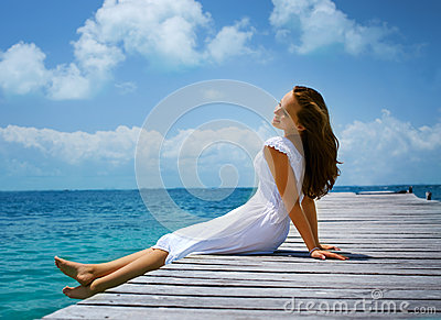 Girl on the Pier