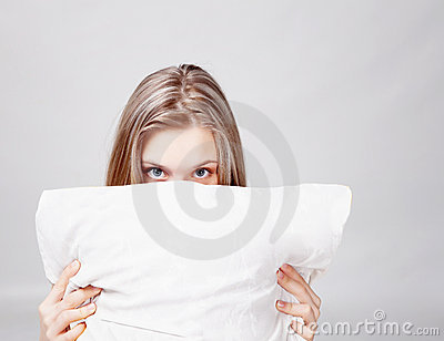 Girl and pillow