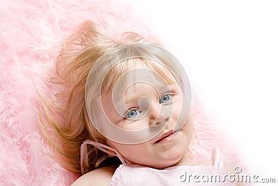 Girl on Pink