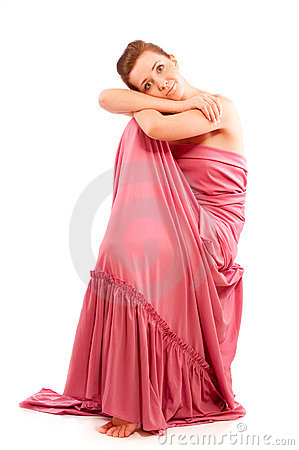 Girl in pink clothes