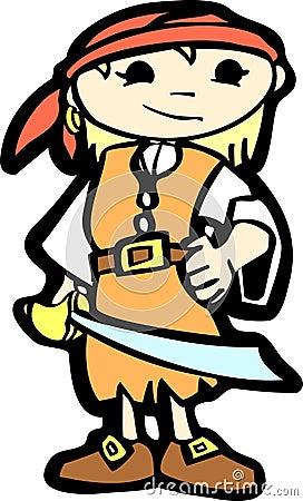 Girl in Pirate Costume