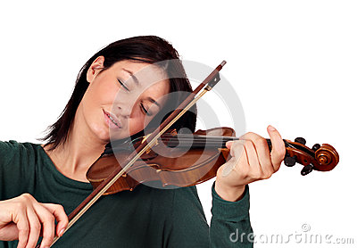 Girl play violin