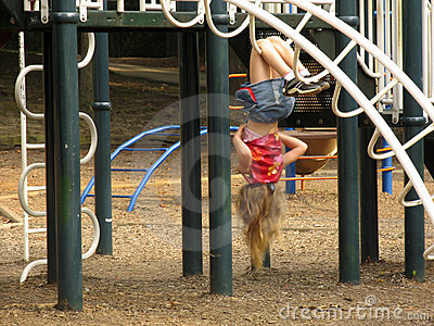 Girl on the Playground Editorial Stock Photo