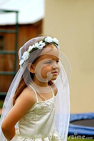 Girl playing bride
