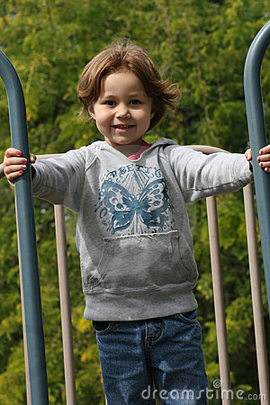 Girl playing in park