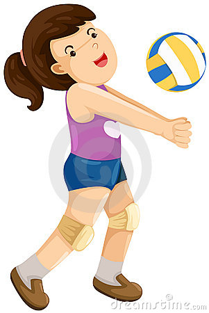 Girl playing volley ball