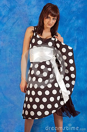 Girl in polka-dot dress