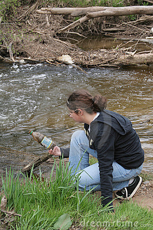 Girl at Polluted Creek