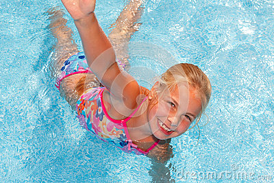 Girl in pool