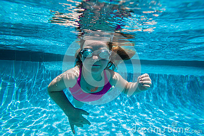Girl Pool Underwater