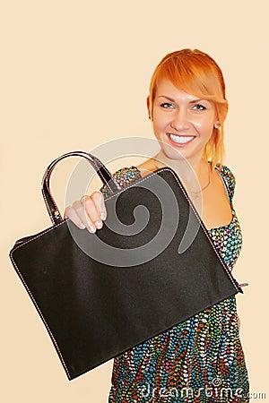 The girl with a portfolio