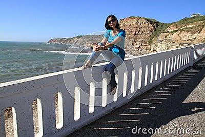 Girl and Porto Barril