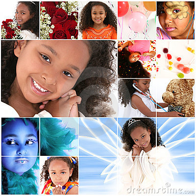 Girl Portrait Collage