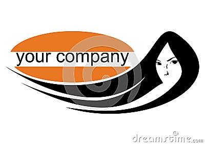 Girl portrait logo